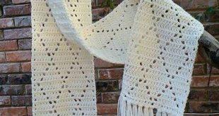 Crochet diamond scarf using I Love This Yarn...