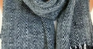 Father's Day Gifts Unisex Scarf - Wool Scarf - Zigzag Cowl Scarf Shawl - Nec...