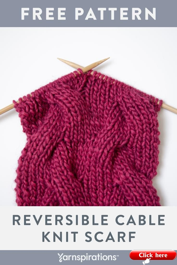 Learn how to knit reversible cables with this free scarf ...