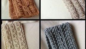 Mountain Range Scarves Crochet Pattern - Set of 4