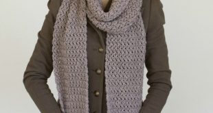 Mulberry Shadow Pocket Scarf Crochet Pattern