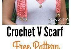 Pretty V Scarf FREE Crochet Patterns