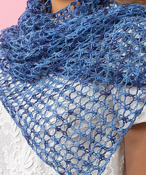 Free Knitting Pattern for 4 Row Repeat Lace Shawl or Scarf ...