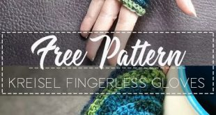 Kreisel Fingerless Gloves – Pattern Free – Easy Crochet