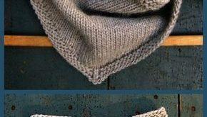 Bandana Cowl Free Strickmuster #bandana #knittingmodelideas #strickmuster
