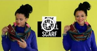 DIY Travel Infinity Scarf Culture Couture