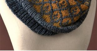 Free Knitting Pattern for Willowwork Cowl - Worked in the round from the bottom ...