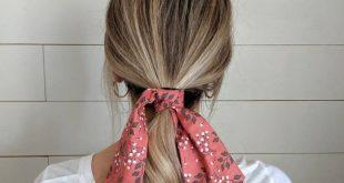 Hair Scarf / Ponytail Scarf / Hair Scarf Ponytail / Floral Hair Scarf / Burnt Or...