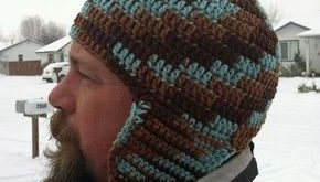 Free Crochet Ear Flap Patterns | Free Crochet Pattern - Mens Earflap Hat!