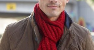 Men's Interchangeable Scarves | Yarn | Free Knitting Patterns | Crochet Patt...