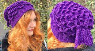 Mermaid Slouchy Hat - FREE Crochet Pattern!