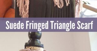 Chic Suede Fringe Triangle Scarf