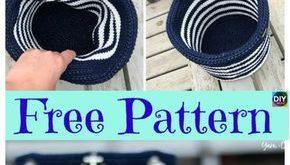 Crochet Nautical Basket - Free Pattern