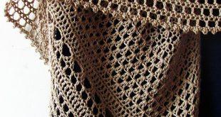Crochet Shawl Pattern - Hourglass Shawl - easy beginner pattern, summer cotton shawl, fine yarn - Crochet Pattern PDF