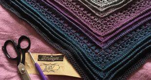 Dies ist mir Schal von Sylvie Webb gemacht. So schöne Farben! Kostenlose Häkel...
