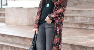 How to wear a floral kimono in the winter!