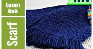 LOOM KNITTING SCARF Easy for Beginners VERY Detailed Round and Long Loom 2019 ...