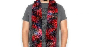Long Scarf for Men, Winter Scarves for Men, Knit Scarves for Men, Red, Fall, Autumn Gifts, Chunky Knits, Christmas Gifts for Him, Burgundy