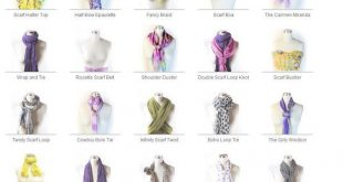 Scarves How to Tie Them | scarf and i also post a video of 25 ways to wear a sca...