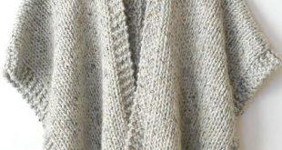 Telluride Easy Knit Kimono - Free Pattern (Amazing Knitting)