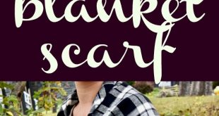 These DIY no-sew blanket scarves are seriously easy and make a beautiful gift fo...