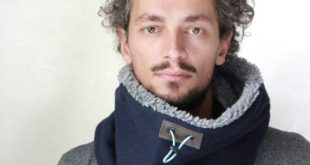 Tweed scarf, cowl or neck warmer for men or women lined with polar fleece