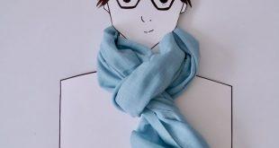 Unisex linen scarf /Blue Linen Scarf for Men woman/Long Linen Scarves/Linen Shawl Wrap/ Men Women Scarf/ Gift for Dad/ gift for him