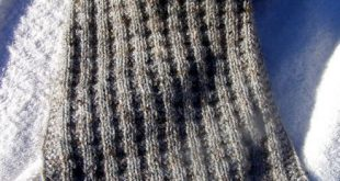 Waffle Scarf: Stash Couture from Simple Knitting Stitches | The Destashification...