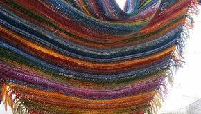 Wolle, Nadeln und Patricia - geniales Tuch aus Wollresten