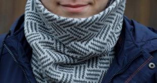 man scarf, mens snood, gift for men, gray male scarf, valentines gift, mens scarf, men's snood, mens cowl, Knitted infinity scarf