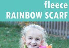 no-sew rainbow fleece scarf -- kid-friendly, printable instructions -- video
